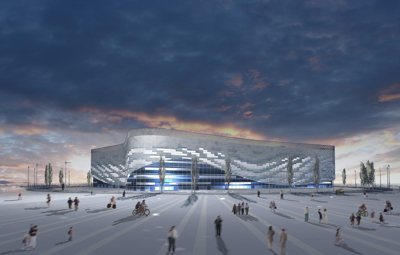 Photo wallpaper Iceberg, the project, Sochi, Ice Palace, Olympic Park