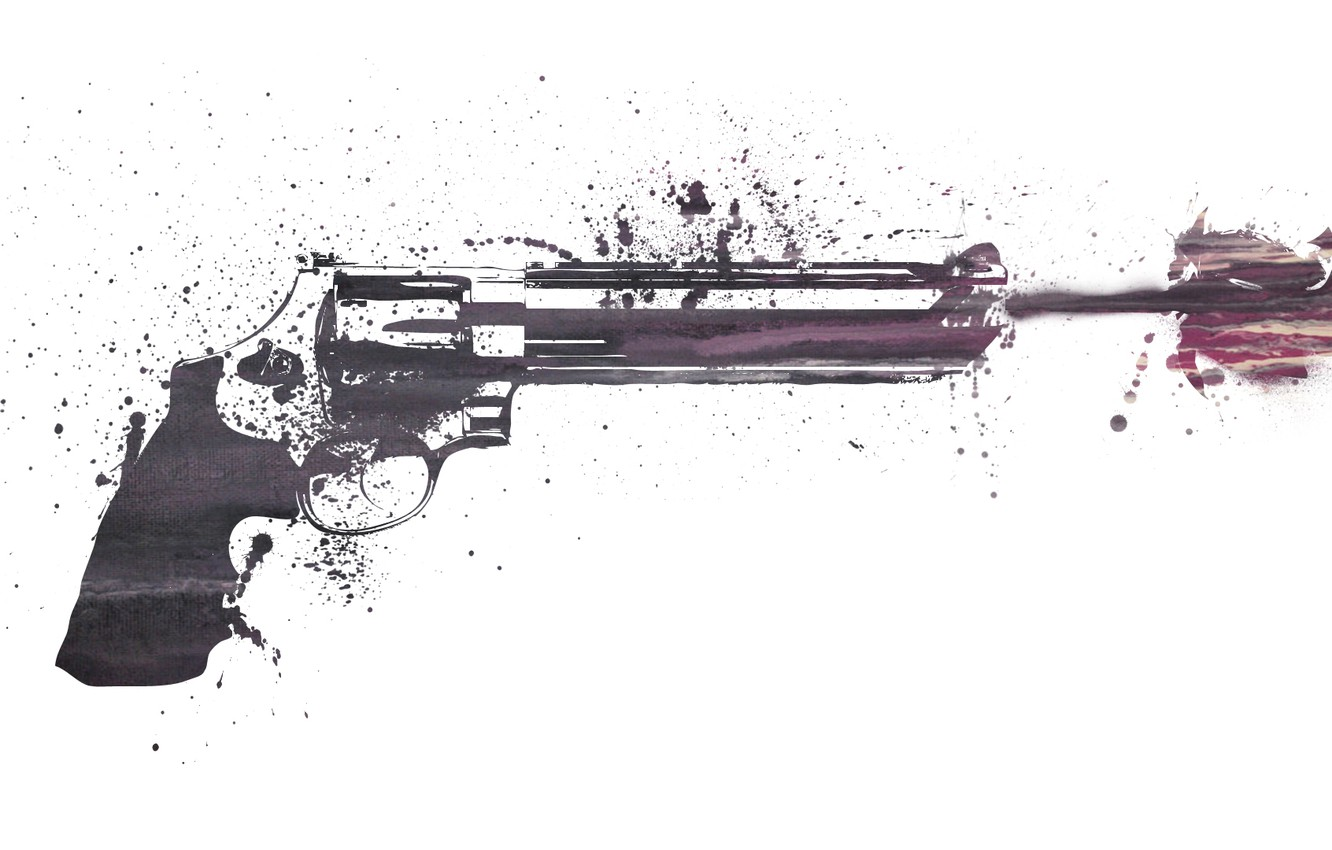 Photo wallpaper weapons, patterns, paint, figure, colors, shot, revolver, weapon, patterns, 1920x1080, picture, shot, revolver