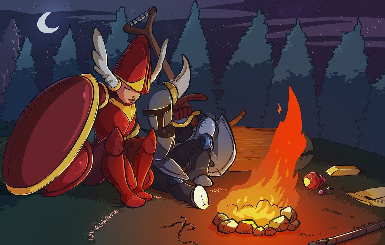 Wallpaper Fire Gold Armor Shovel Knight Images For