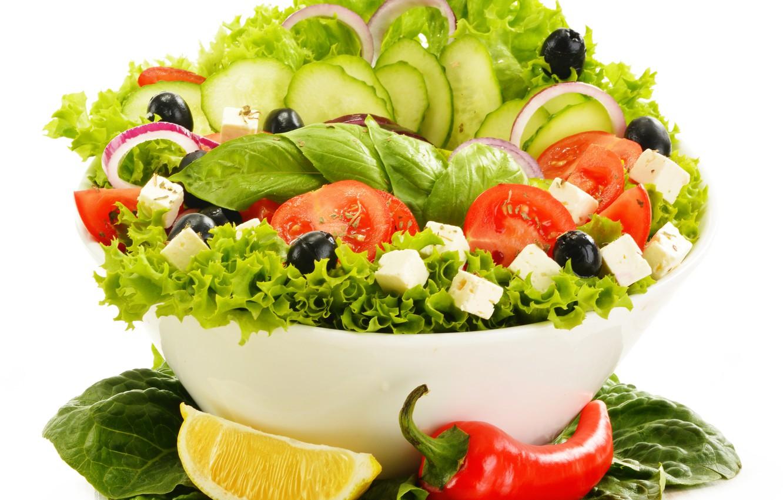 Photo wallpaper greens, vegetables, vegetable salad