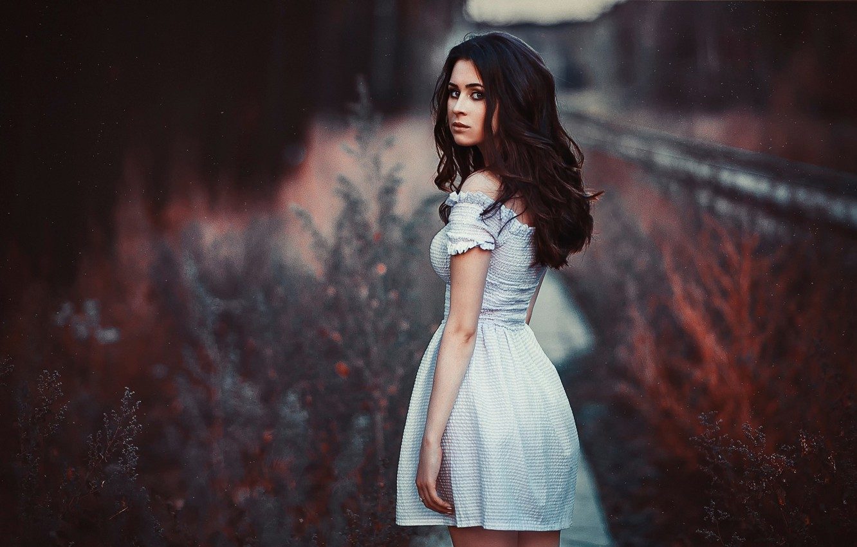 Photo wallpaper look, nature, portrait, dress, Julia Pushman