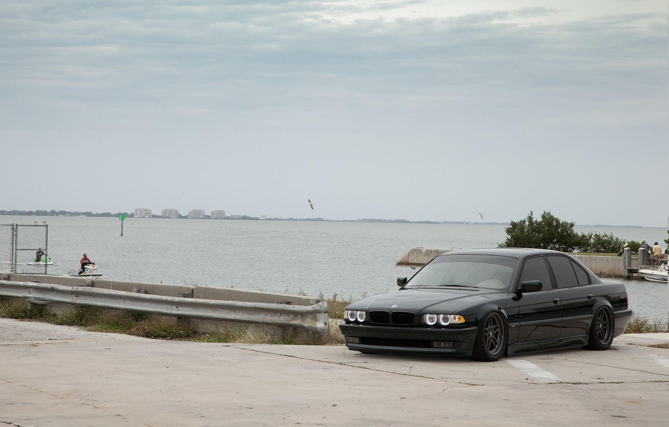 Photo wallpaper car, BMW, Tuning, Boomer, BMW, auto, Tuning, E38, lowered