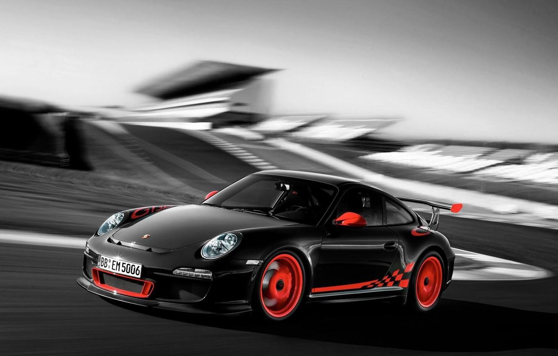 Photo wallpaper machine, Auto, blur, Porsche