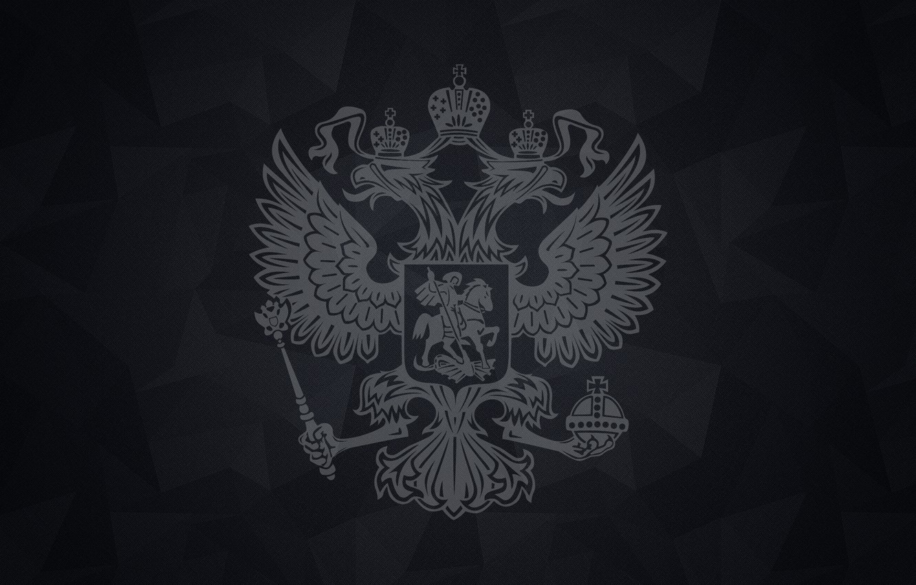 Photo wallpaper Eagle, Coat of arms, Russia