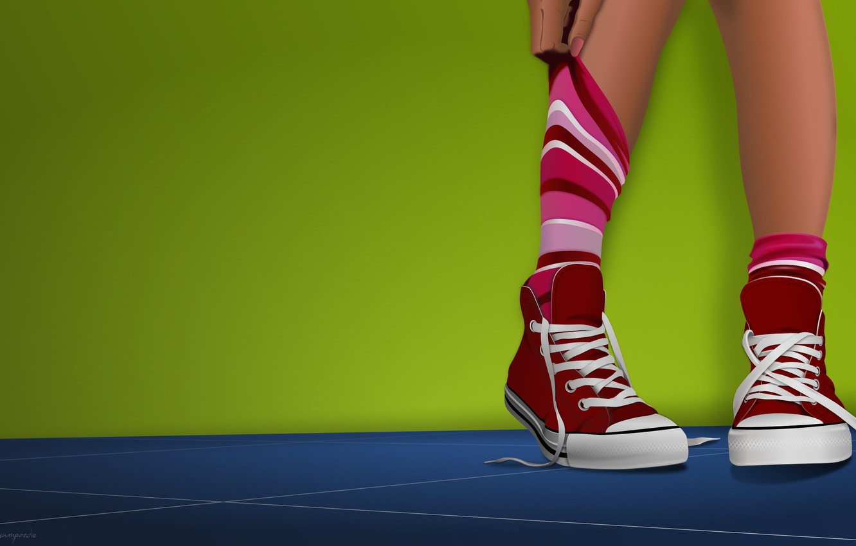 Photo wallpaper sneakers, minimalism, vector