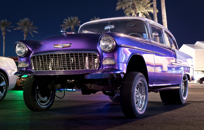 Photo wallpaper retro, Chevrolet, classic, Chevy, wheel, 1955