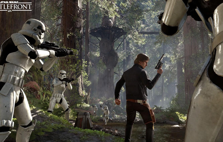Wallpaper Endor Star Wars Battlefront Han Solo Han Solo