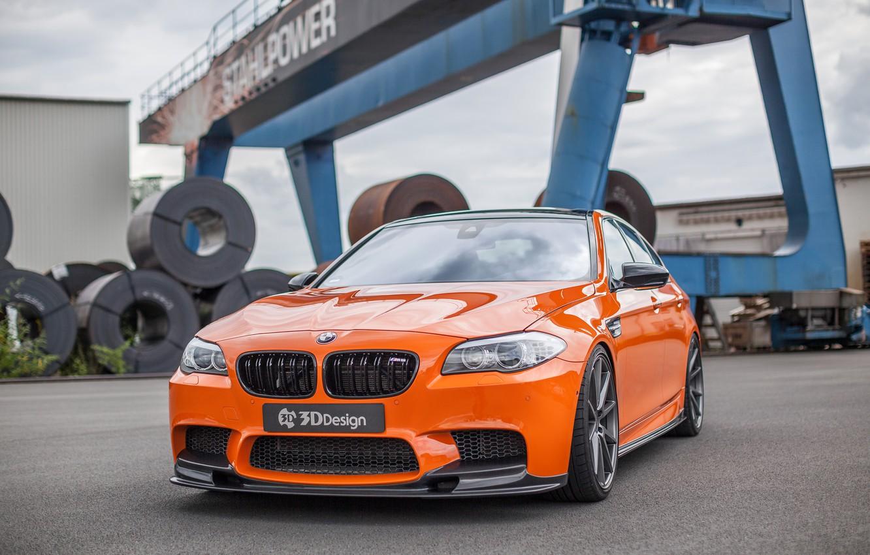 Photo wallpaper car, auto, lights, BMW, BMW, grille, tuning, the front, nostrils, 3D Design