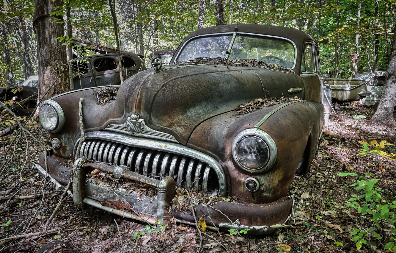 Photo wallpaper machine, background, scrap, Buick
