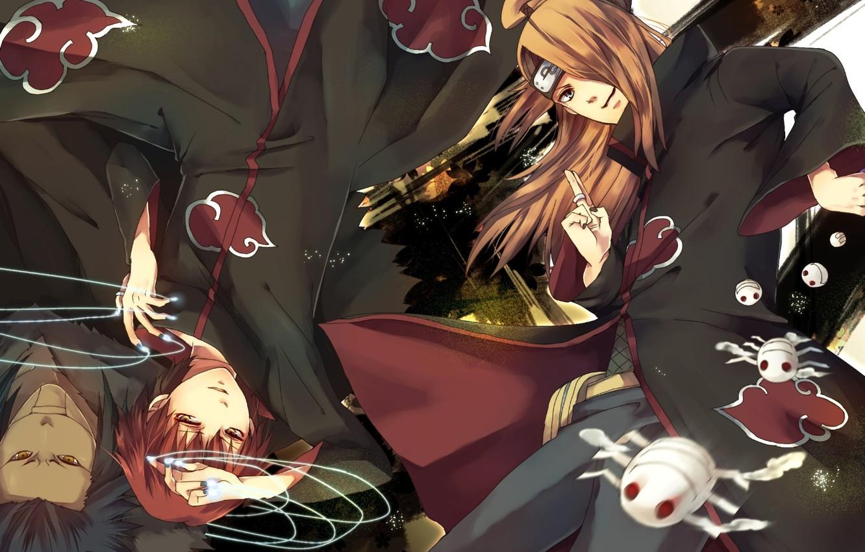 Photo wallpaper anime, art, guys, Naruto, Deidara, Sasori