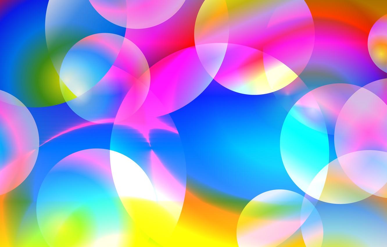 Photo wallpaper circles, background, mood, bright