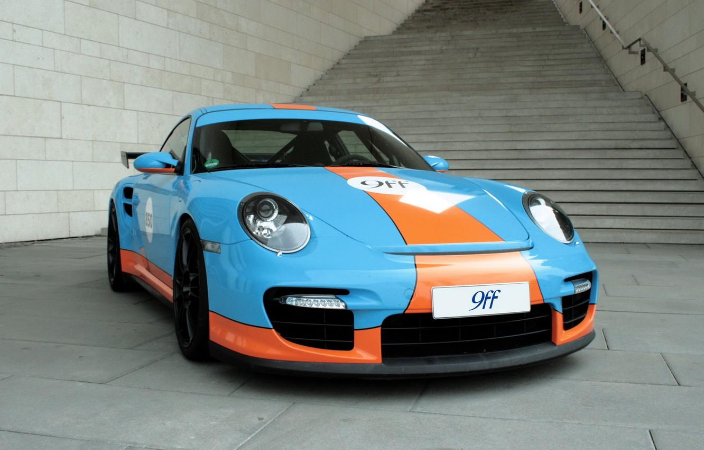Photo wallpaper tuning, coupe, 911, Porsche, ladder, steps, sports car, handrail, Porsche, coupe, tuning 9ff