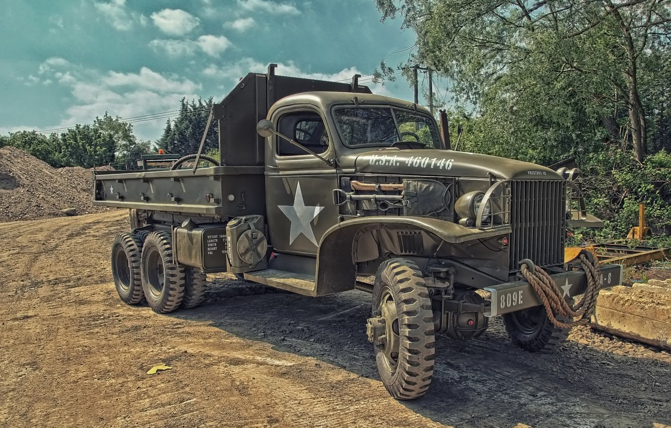 Photo wallpaper truck, army, high, patency, CCKW 353