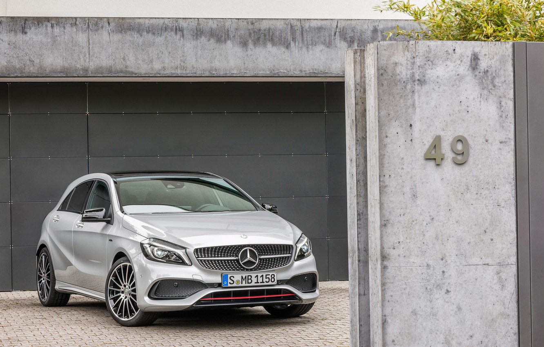 Photo wallpaper Mercedes, 4MATIC, 2015, A 45, W176, Mercedes-AMG