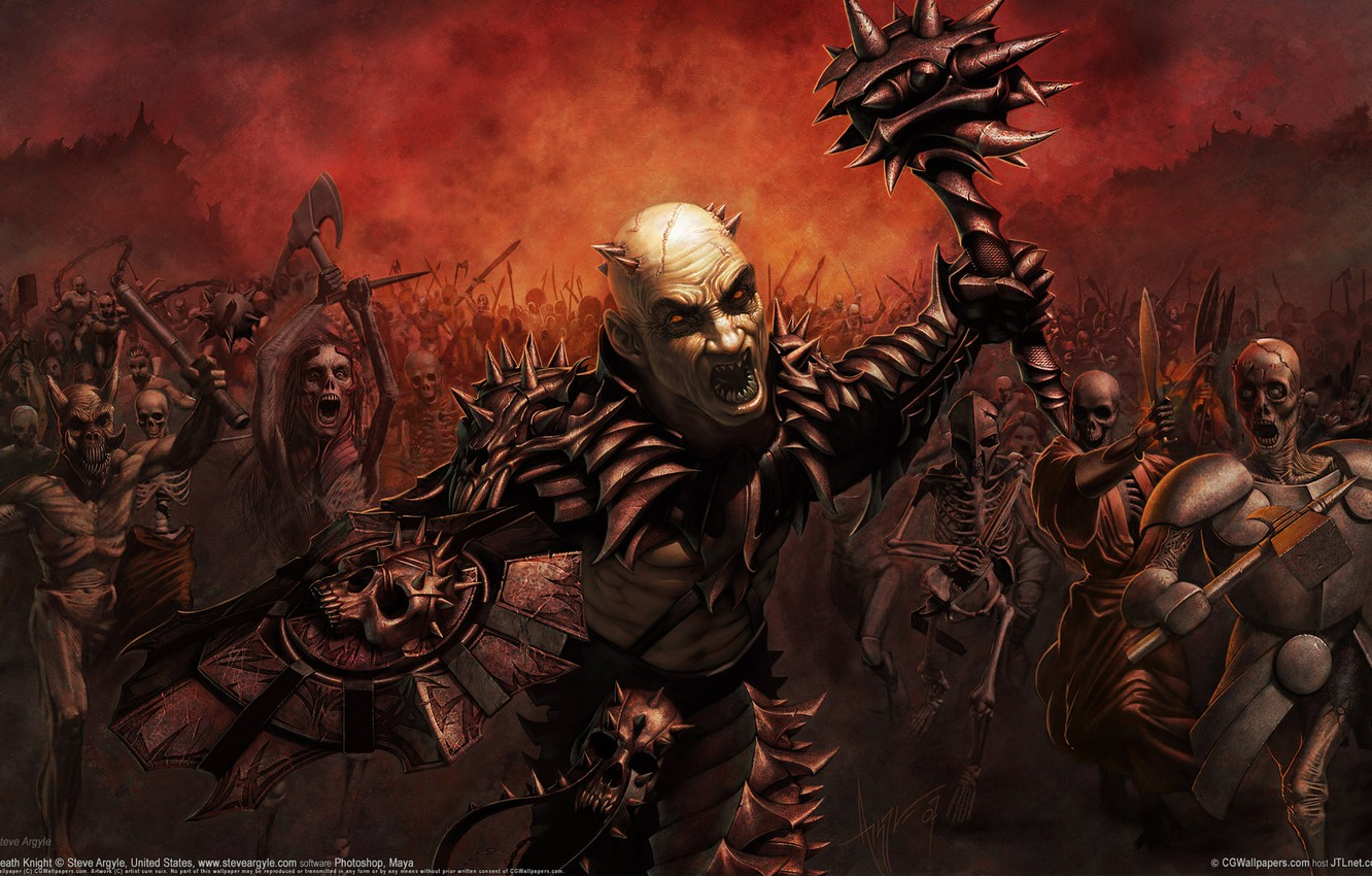 Photo wallpaper Army, Demons, CG Wallpapers, Death Knight, Steve Argyle, Death Knight