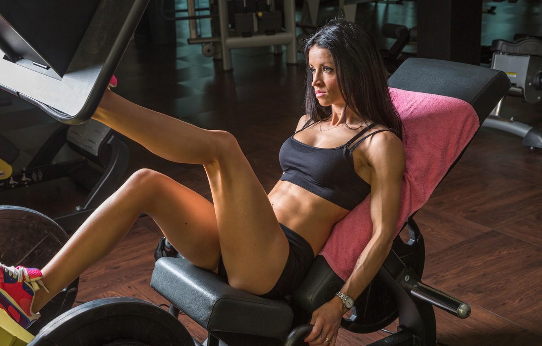 Photo wallpaper legs, woman, fitness, gym