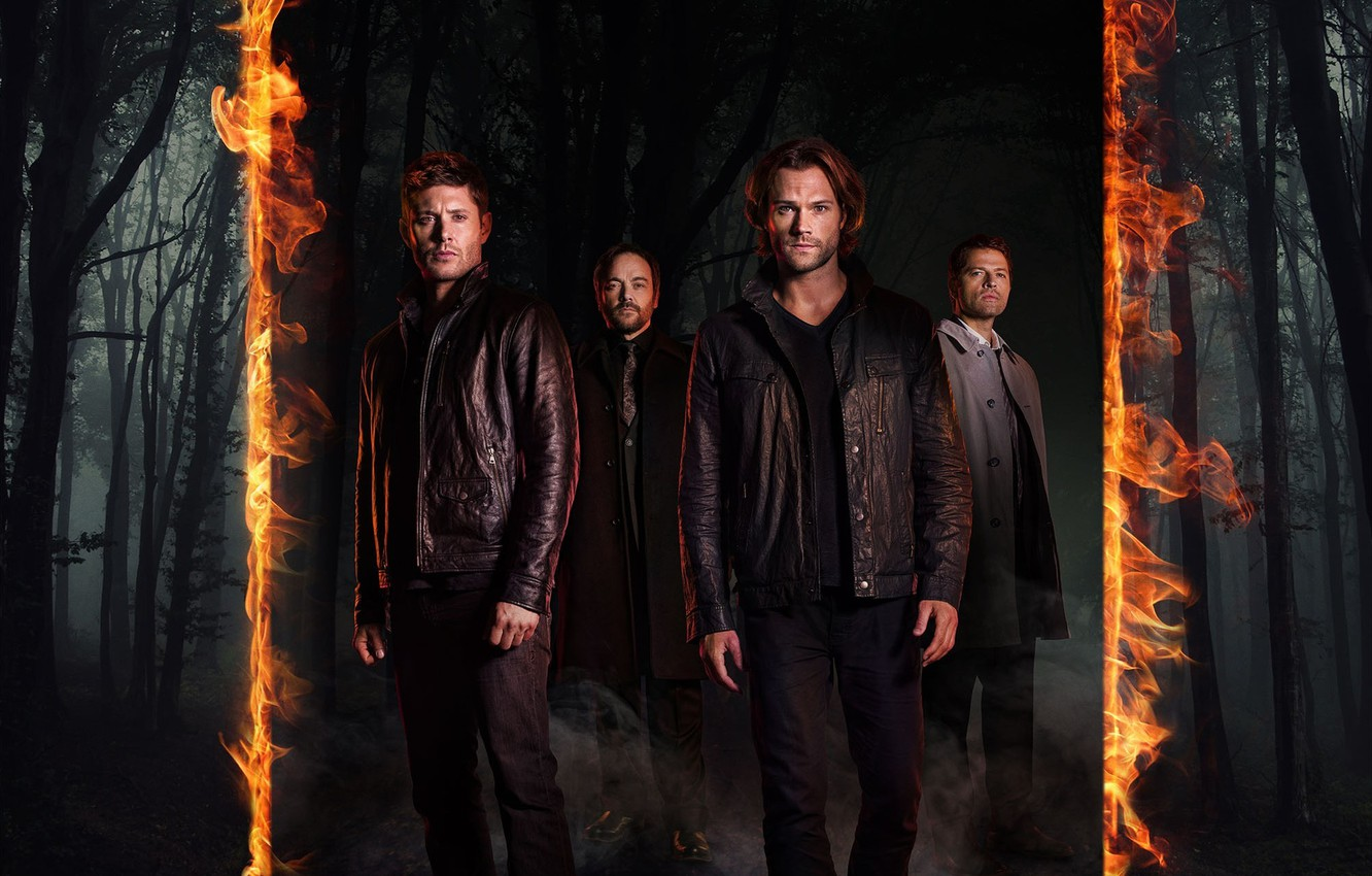 Wallpaper Fire Flame Forest Devil Supernatural Jensen Ackles