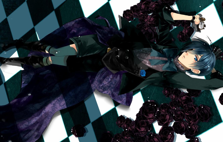 Black Bluter Anime Art Purple Wallpaper Wallpapers Ninja