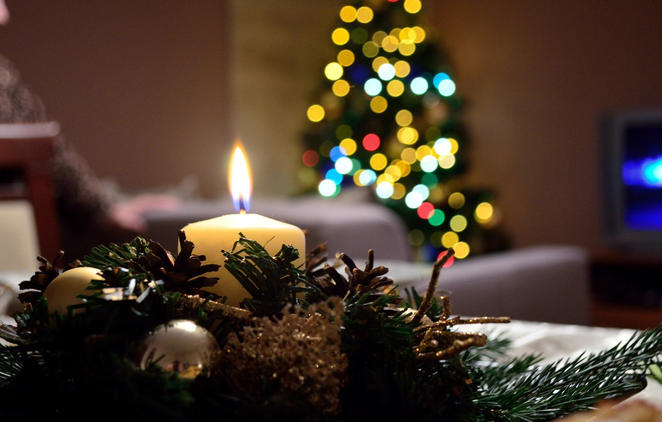 Wallpaper Christmas Christmas Tree Candle Images For