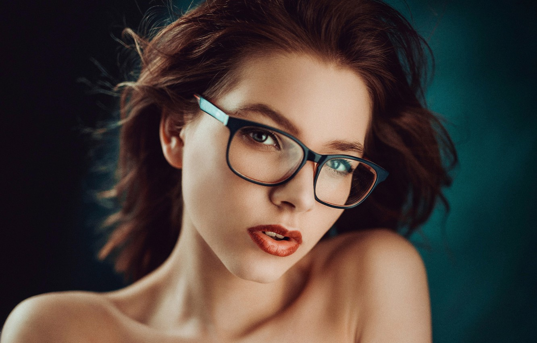 Photo wallpaper portrait, makeup, glasses, Lusy, George Chernyadev