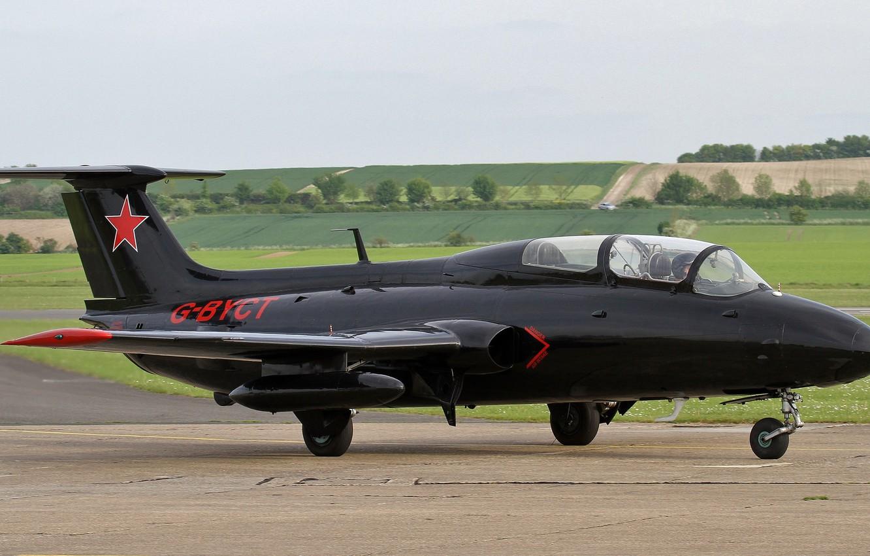 "Photo wallpaper the plane, Aero, training, ""Dolphin"", L-29"