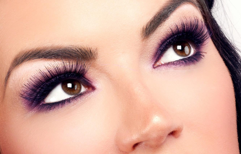 Photo wallpaper woman, eyes, brunette