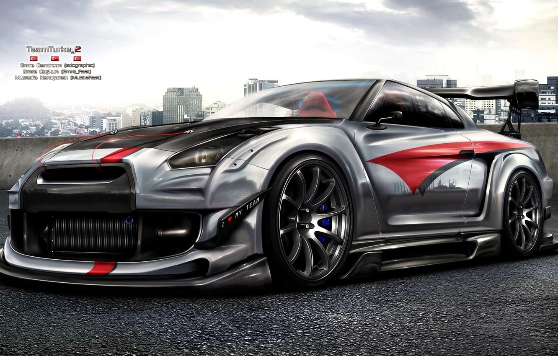 Photo wallpaper figure, Nissan, GT-R, Nissan, R35