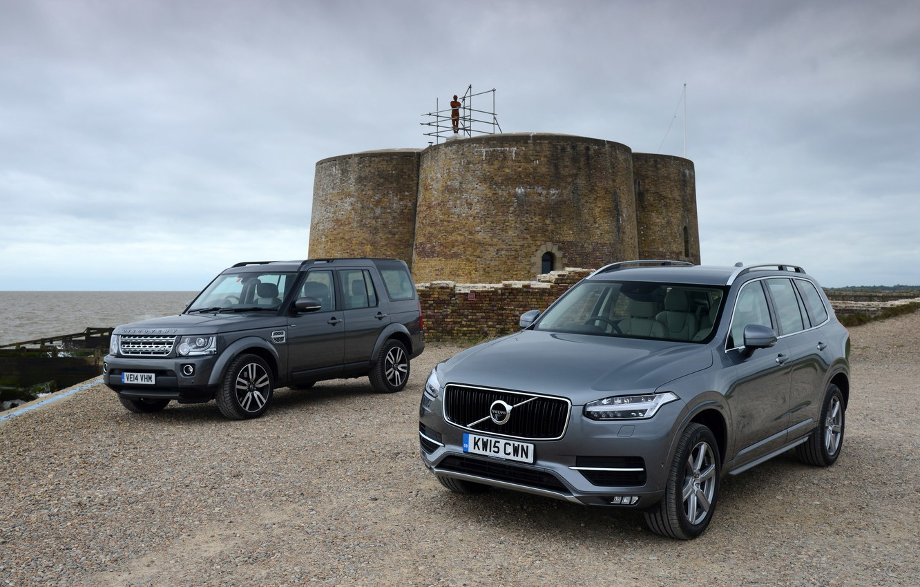 Photo wallpaper Volvo, Land Rover, Discovery, XC90, Volvo, discovery, land Rover, 2015