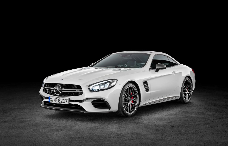 Photo wallpaper white, Mercedes-Benz, convertible, Mercedes, AMG, AMG, R231, SL-Class