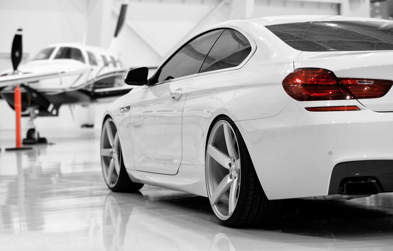 Photo wallpaper auto, the plane, BMW, white, BMW 650i