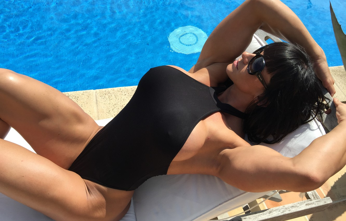 Photo wallpaper model, swimsuit, pose, cindy landolt, bodybuilder
