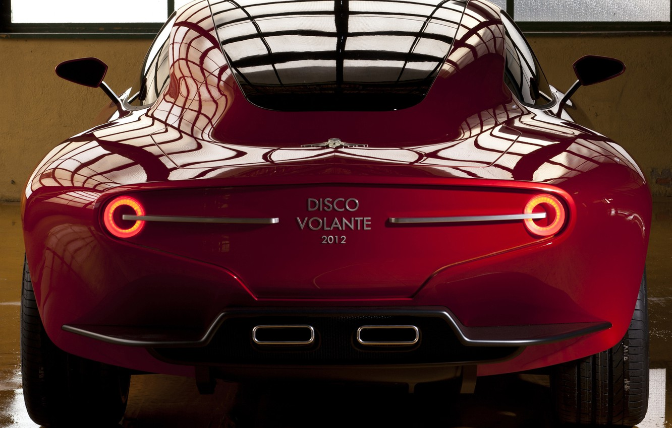 Photo wallpaper Concept, car, rear view, Touring, Flying Disc, SuperLeggera