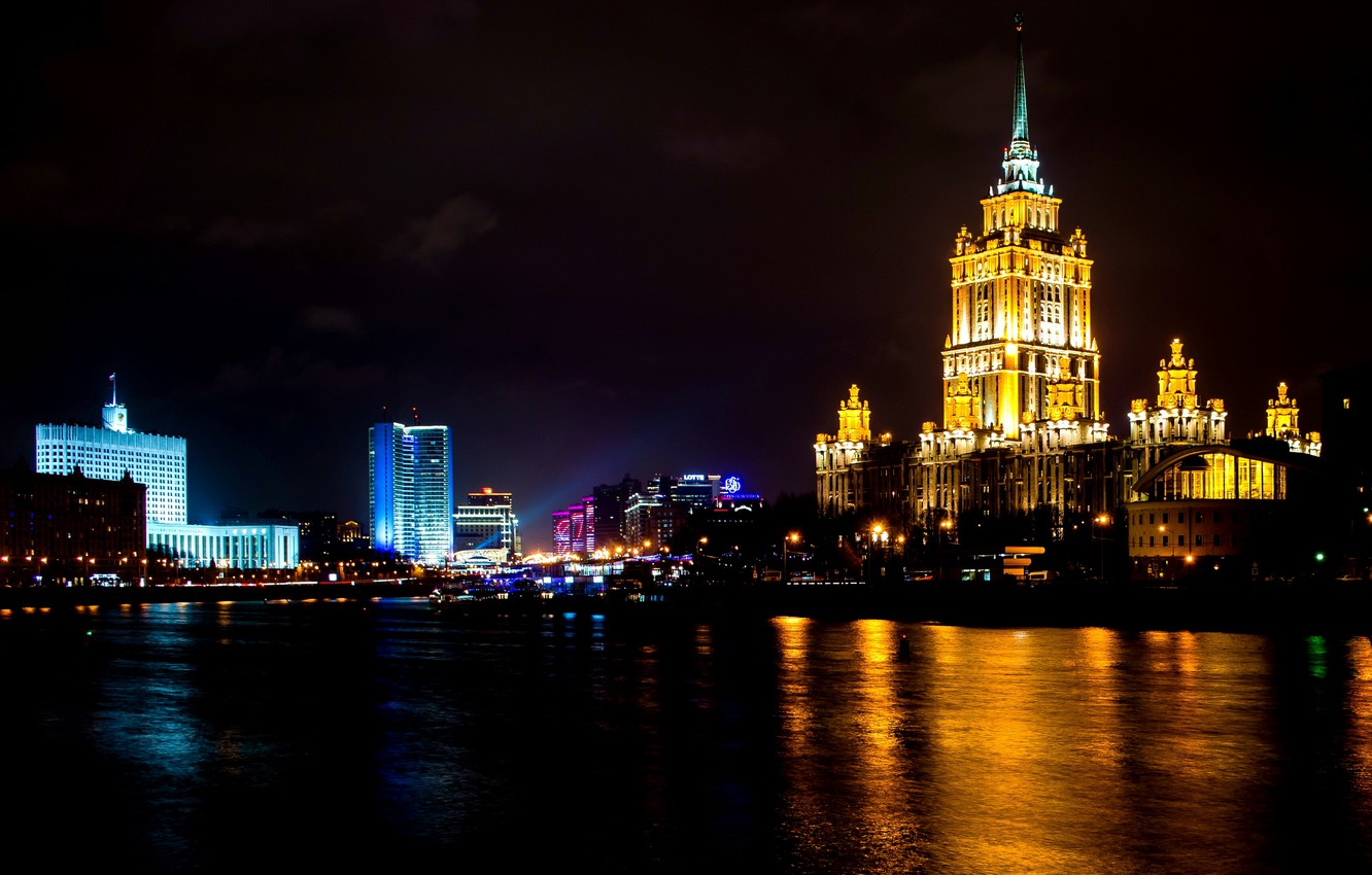 Wallpaper Night Moscow Russia Russia Night Moscow