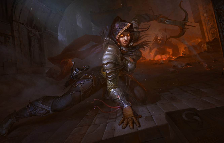 Wallpaper Girl Diablo 3 Hunter Demon Hunter Images For Desktop