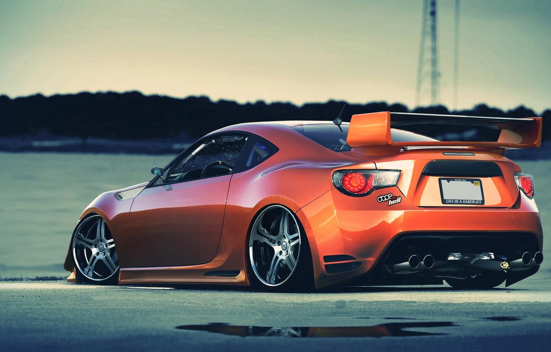 Photo wallpaper toyota, orange, gt86