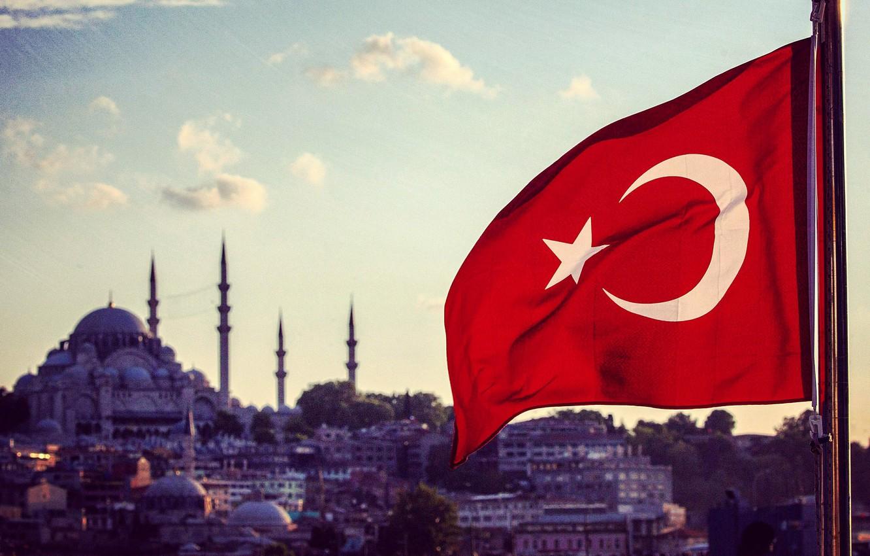 Photo wallpaper Flag, Istanbul, Turkey, Istanbul, Turkey, Flag