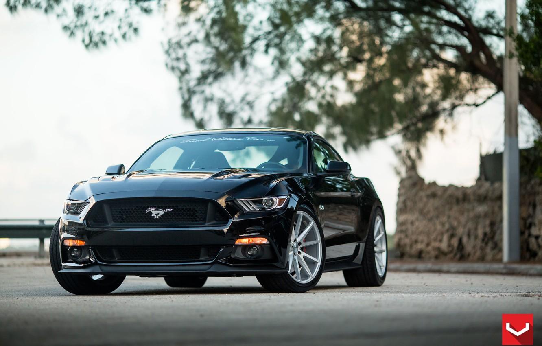 Photo wallpaper Mustang, Ford, 5.0, Vossen, flow, (S550), formed, VFS1