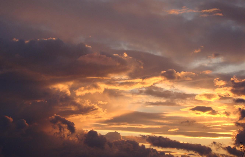 Photo wallpaper the sky, sunset, clouds, Akela White