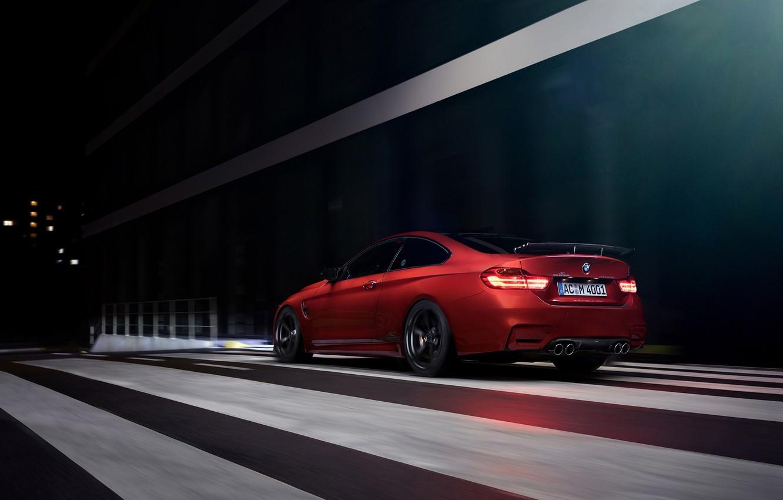 Photo wallpaper BMW, German, Orange, Car, Sport, Rear, Ligth, AC-Schnitzer