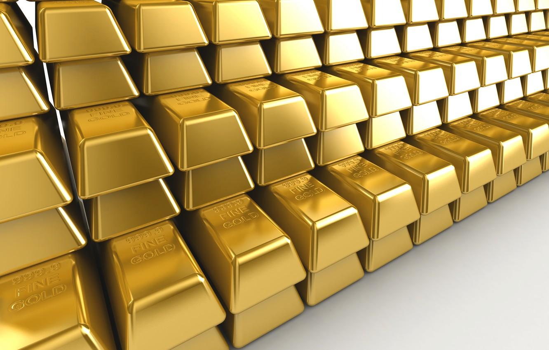 Photo wallpaper Background, Metal, Gold, Ingot