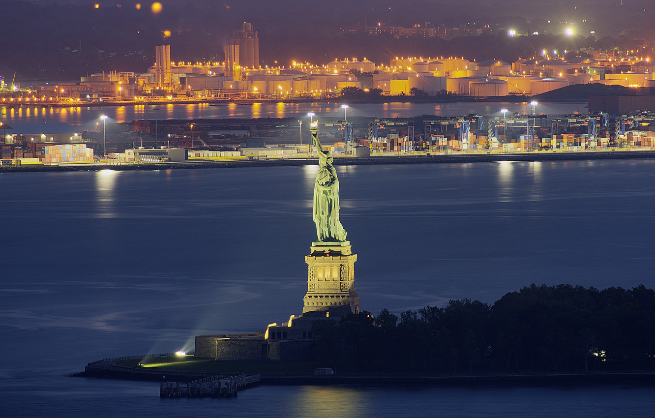 Wallpaper Landscape Night Lights Home New York Usa The Statue Of Liberty Images For Desktop Section Gorod Download