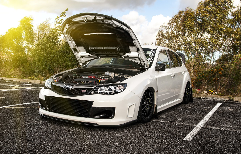 Photo wallpaper Subaru, Impreza, WRX, white, tuning