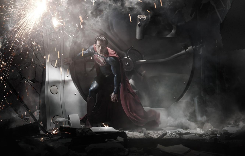 Photo wallpaper safety Deposit box, hero, costume, superman, the Bank, Superman, hero, costume, Man of steel, Man …