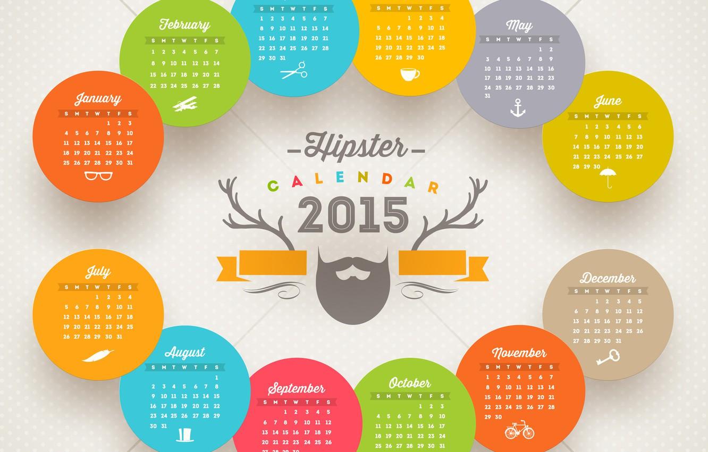 Photo wallpaper New, New year, Happy new year, 2015, Calendar, Calendar 2015