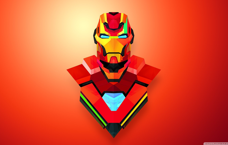 Photo wallpaper red, marvel, Iron Man, Abstract Art