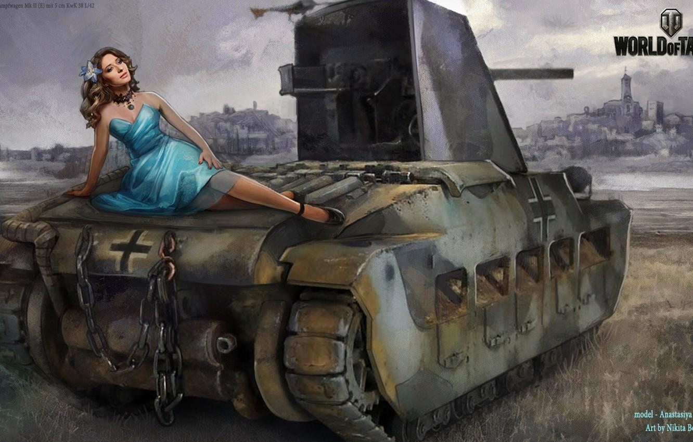 Image World of Tanks Nikita Bolyakov Tanks Girls Games