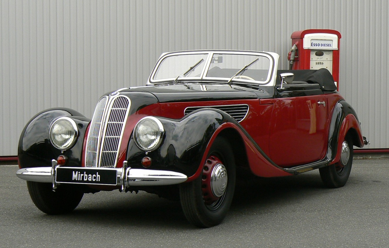 Photo wallpaper red, convertible, German, BMW 327 Sport-Cabriolet