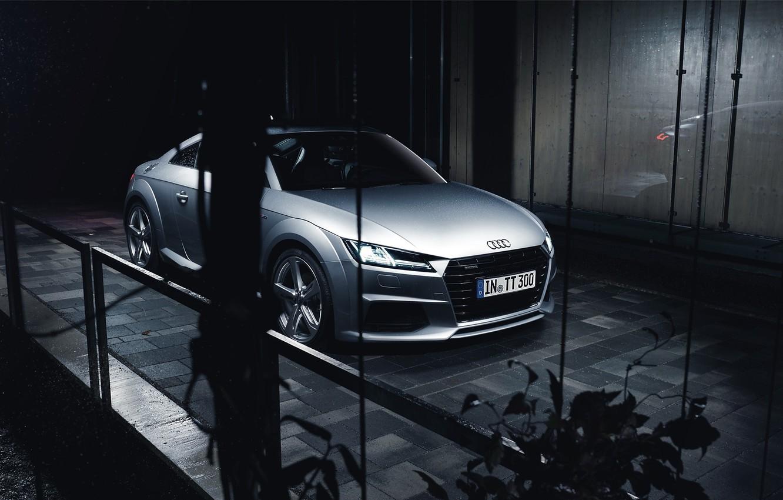 Photo wallpaper Audi, Car, Silver, Automotive, Sline