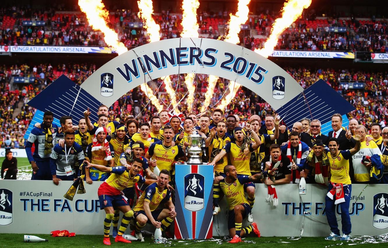 Photo wallpaper background, victory, Arsenal, tribune, Arsenal, Football Club, the gunners, The Gunners, football club, 2015, The …