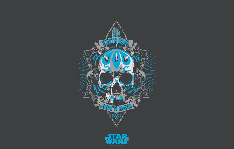 Photo wallpaper background, skull, Star Wars, Darth Maul, Star Wars